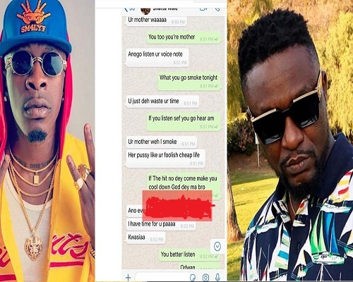 Photo of Shatta Wale throws more fire;insults archipalago and his mum – Archipalago reveals [Leaked chat]