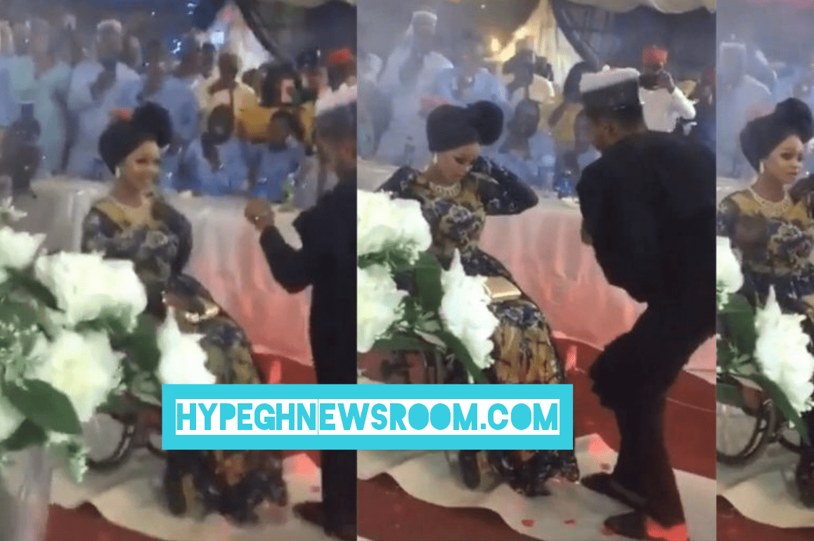 Photo of Handsome Man happily weds ' Disabled' girlfriend, Video goes viral [WATCH VIDEO]