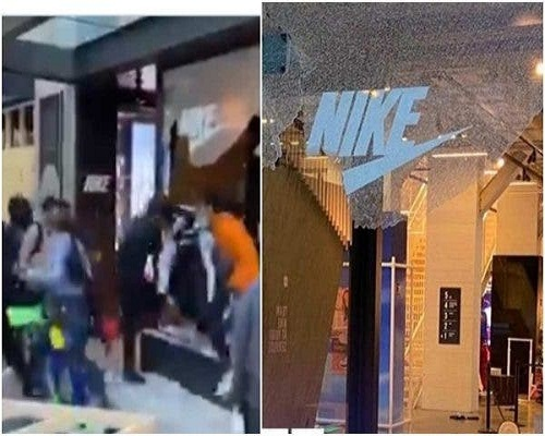 Photo of #GeorgeFloyd: Protesters loot Nike store in Chicago [WATCH VIDEO]