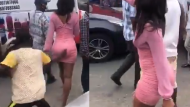 Photo of Woman curses a man who grabbed her butt in a street(video)