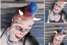 "Photo of ""Human Satan"" chops off his nose, implants horns into his skull in an Extreme body modification like the Satan [PHOTOS]"