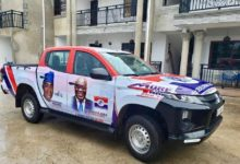 Photo of Manaf Ibrahim donates vehicle for the 2020 NPP Asawase Constituency campaign
