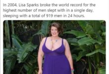Photo of Meet Lisa Sparks, Record holder for Having S3x with the highest number of men within 24hours [PHOTOS]