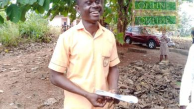 Photo of 26-year-old lotto forecaster gives interesting reason for writing BECE after his first paper