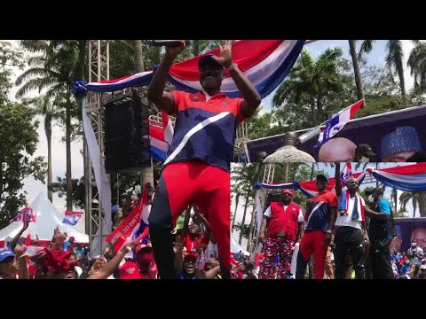 Check Kennedy Agyapong display his dancing moves during an NPP campaign