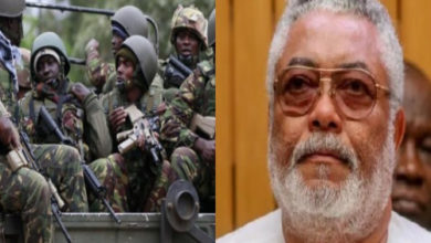 Photo of Check out: Military Men Storm J.J. Rawlings House Shortly After His Death